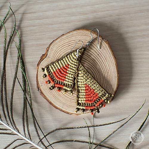 fecha de lanzamiento 3480b 4e98f Pendientes macramé: Amazon.es: Handmade