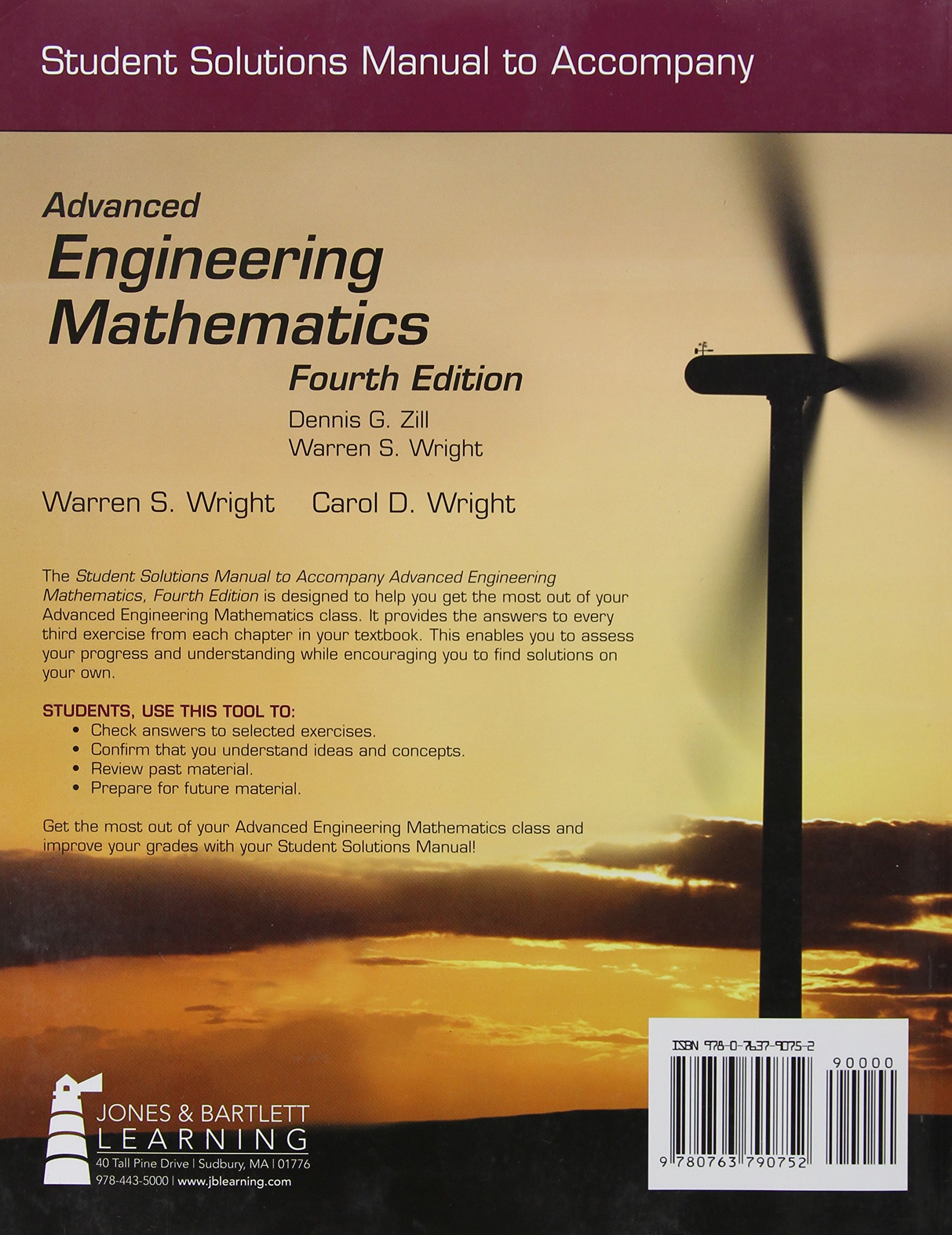 Student Solutions Manual To Accompany Advanced Engineering Mathematics:  Warren S. Wright: 9780763790752: Amazon.com: Books