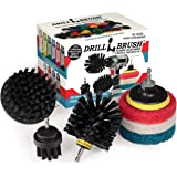 Drillbrush - Grill Accessories - Grill Brush and Cleaner - Power Scrub Drill Brush - Cleaning Brush - Blue Cleaning Pads - Dr