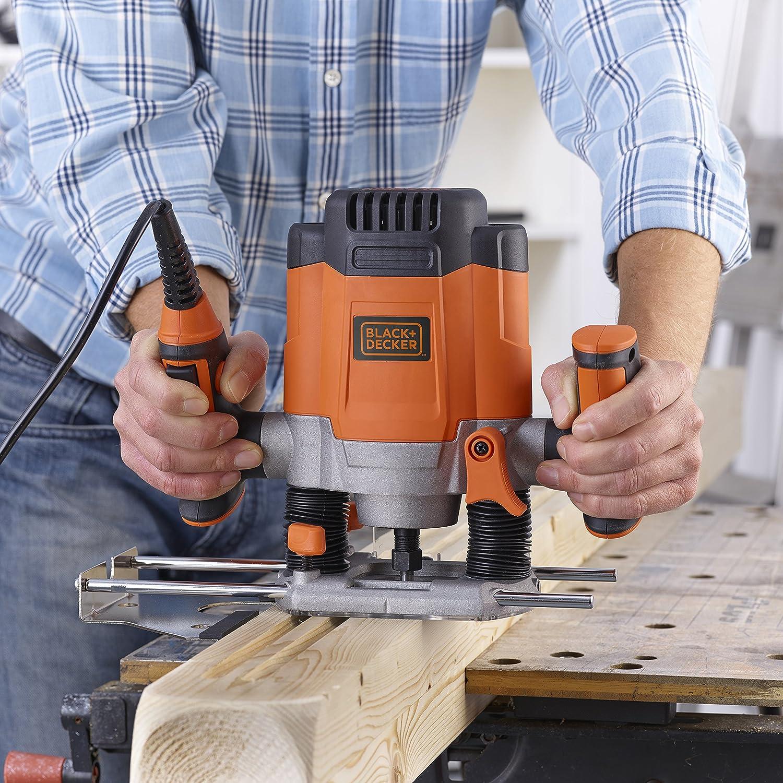 1200 W orange KW1200EKA-QS 1200 wattsW Black /& Decker Elektrische Oberfr/äse