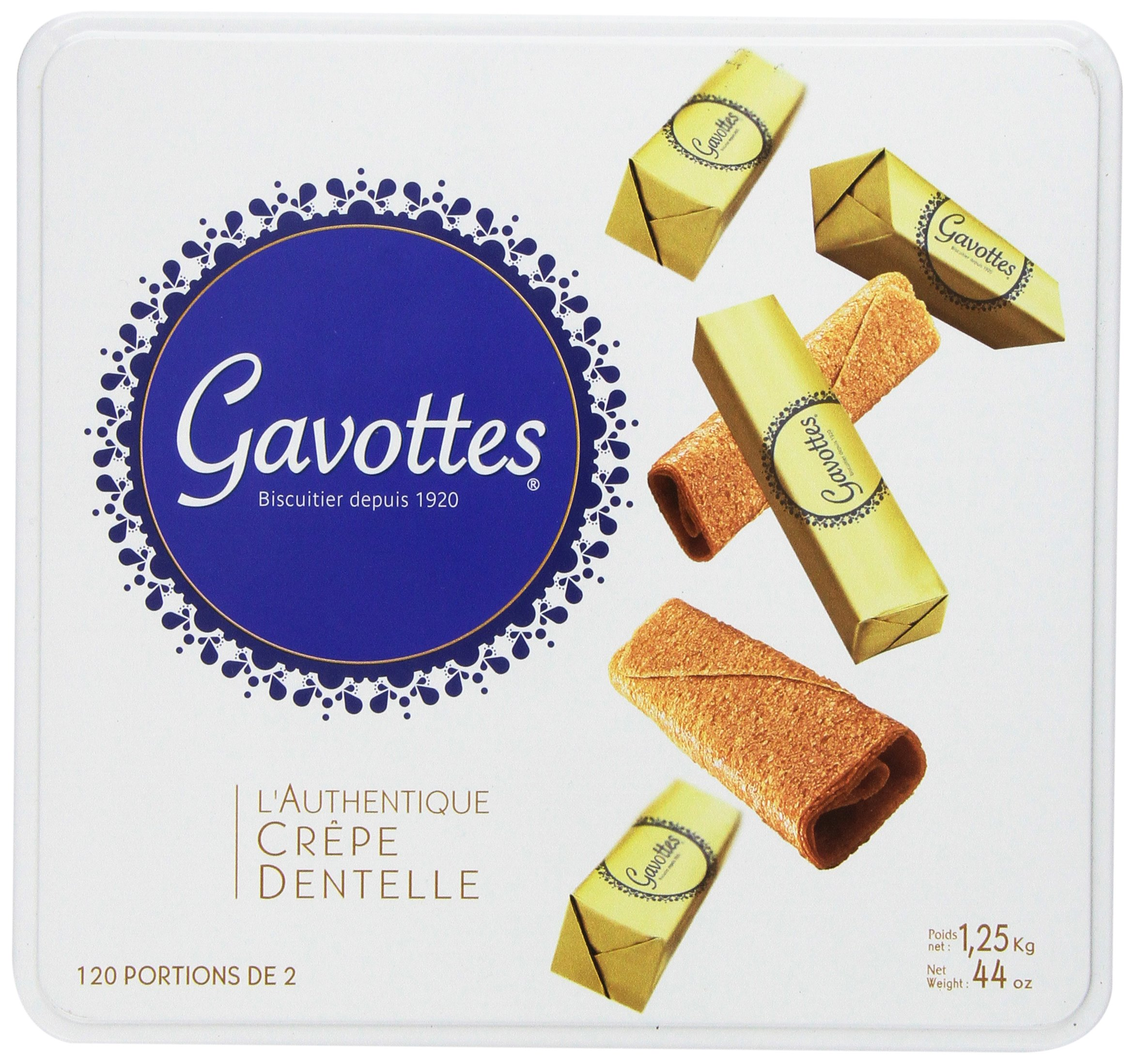 Gavottes - Crispy Lace Crepes from France, 240ct, 44oz