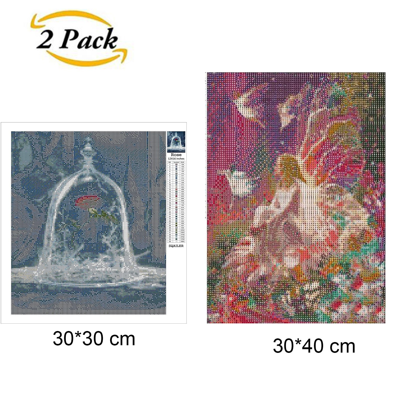 2 Packs 5D DIY Diamant Malerei Set Vollbohrer Diamant Malerei ...