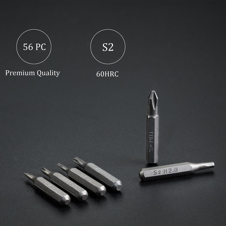 EZARC Mini Precision Screwdriver Set With Premium Quality Aluminum Case 57 In 1