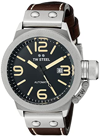 6562e5a5b83f Image Unavailable. Image not available for. Color  TW Steel Men s CS35  Analog Display Automatic Brown Watch