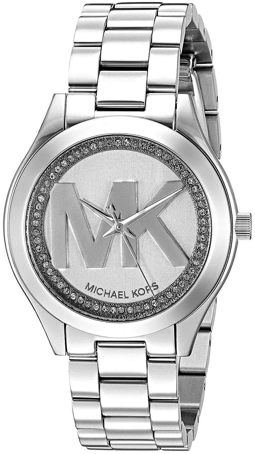 Amazon.com: Michael Kors Womens Mini Slim Runway Logo Silver-Tone Watch MK3548: Michael Kors: Watches