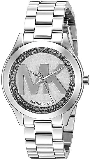 8c2c45450d00 Michael Kors Women s Mini Slim Runway Logo Silver-Tone Watch MK3548  Michael  Kors  Amazon.ca  Watches