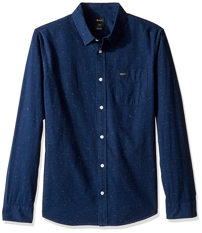 531b6607374 RVCA Men s Button-Down Shirt  Amazon.co.uk  Clothing