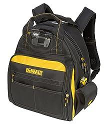 3. DEWALT DGL523 Lighted Tool Backpack Bag, 57-Pockets