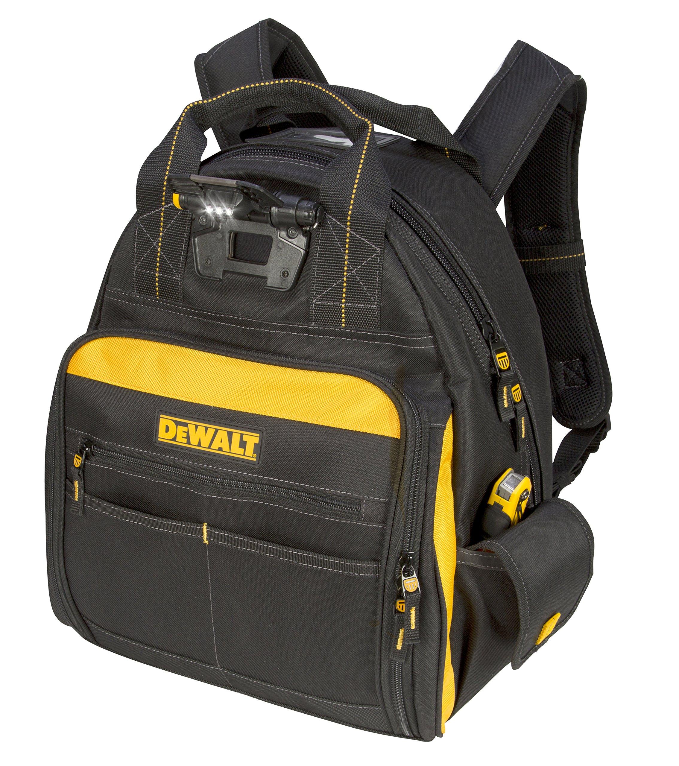 DEWALT DGL523 Lighted Tool Backpack Bag, 57-Pockets by DEWALT