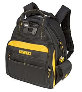 3. DEWALT DGL523 Lighted Tool Backpack Bag, 57-Pockets