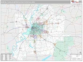 Amazon Com Marketmaps Memphis Tn Metro Area Wall Map 2018 Zip