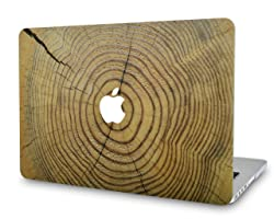 "KECC Laptop Case for New MacBook Air 13"" Retina (2019/2018, Touch ID) Plastic Case Hard Shell Cover A1932 (Cracked Wood)"
