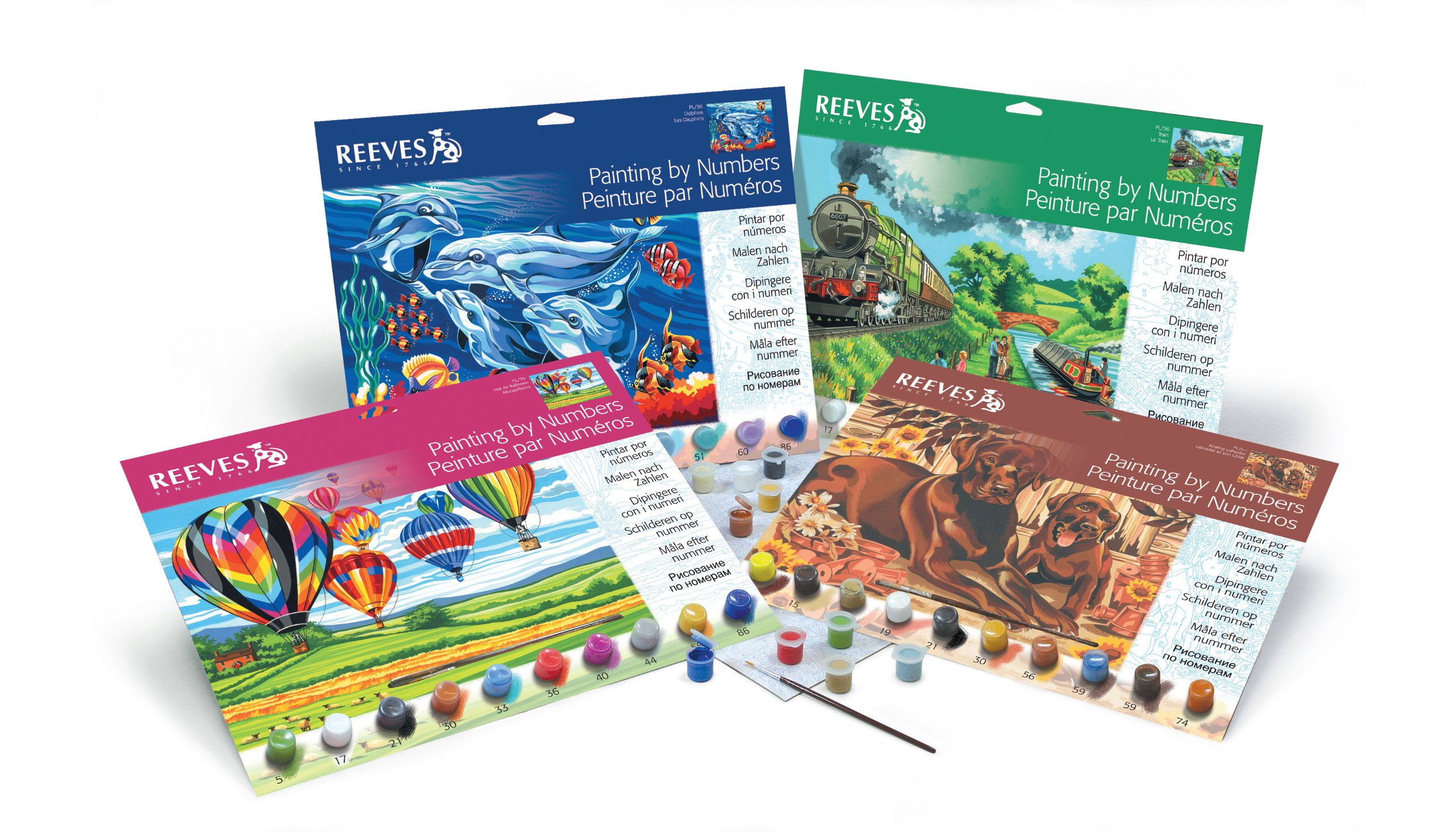 Reeves Wolves Acrylic Painting Set by Numbers, Large