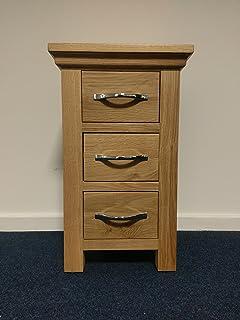 Alberta Light Oak Narrow Bedside Table / Cabinet