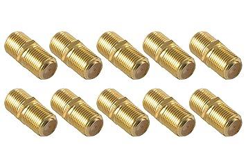 Acoplamientos para cable coaxial SAT de Poppstar, 10 unidades (conectores F [hembra a