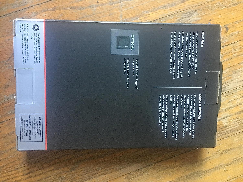 Amazon.com: Rocketfish Digital Fiber Optic Audio Cable - 4 feet 1.2M Bulk Pack: Electronics