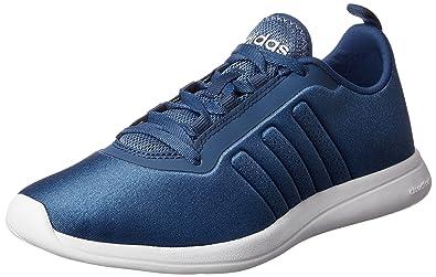 adidas Cloudfoam Pure W, Chaussures de Sport Femme, Rose/Blanc (Rose Shocking/Blanc Footwear/Doré Solaire), 36 2/3 EU