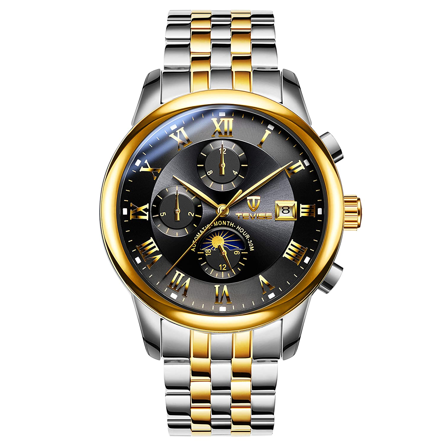 TEVISE Mens Watch Automatic Mechanical Wristwatch Luxury Fashionable Classic