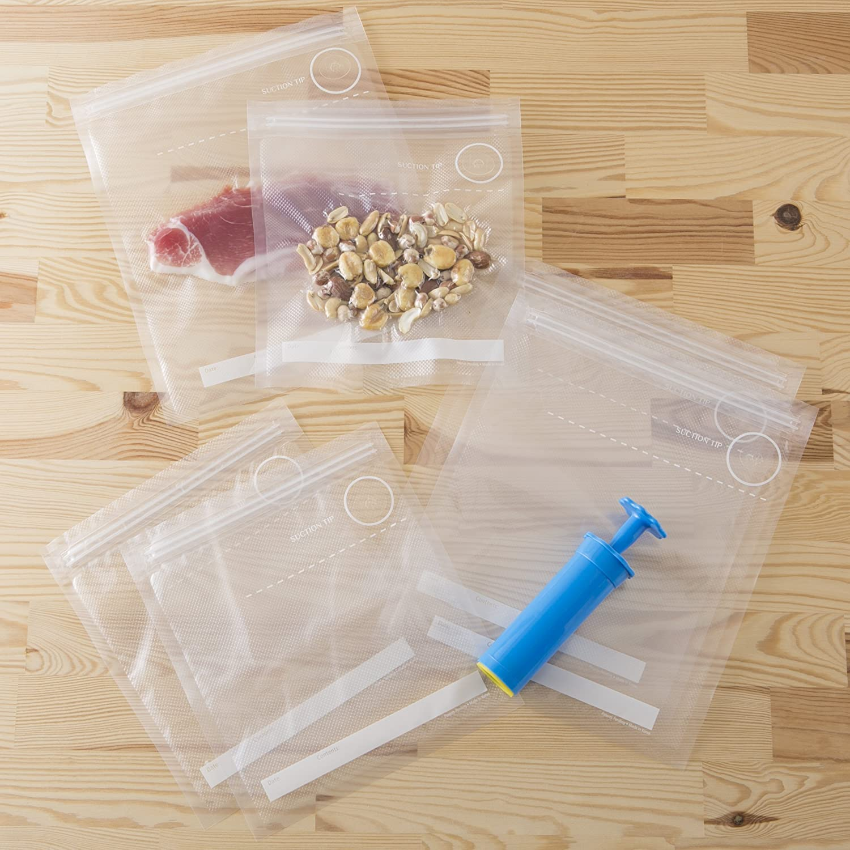 貝印「真空ポンプ&保存袋(スターターセット) DH2058」