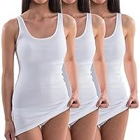 HERMKO 1317 Pack de 3 Camisetas Interiores extralargas (+ ca. 10cm) de algodón orgánico 100%