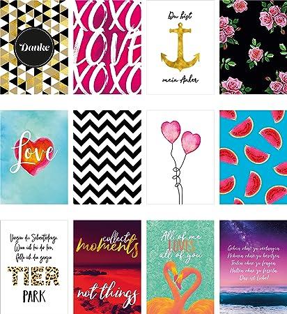 Juego de 52 tarjetas Love – Tarjetas postales y tarjetas plegables con refranes como tarjetas de felicitación, juego de boda y tarjetas de agradecimiento.: Amazon.es: Oficina y papelería