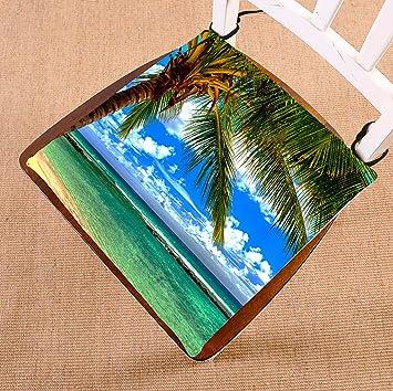 Attrayant Custom Beach Palm Tree Seat Cushion Chair Cushion Floor Cushion Breathable  Inner Cushion And Ties Two