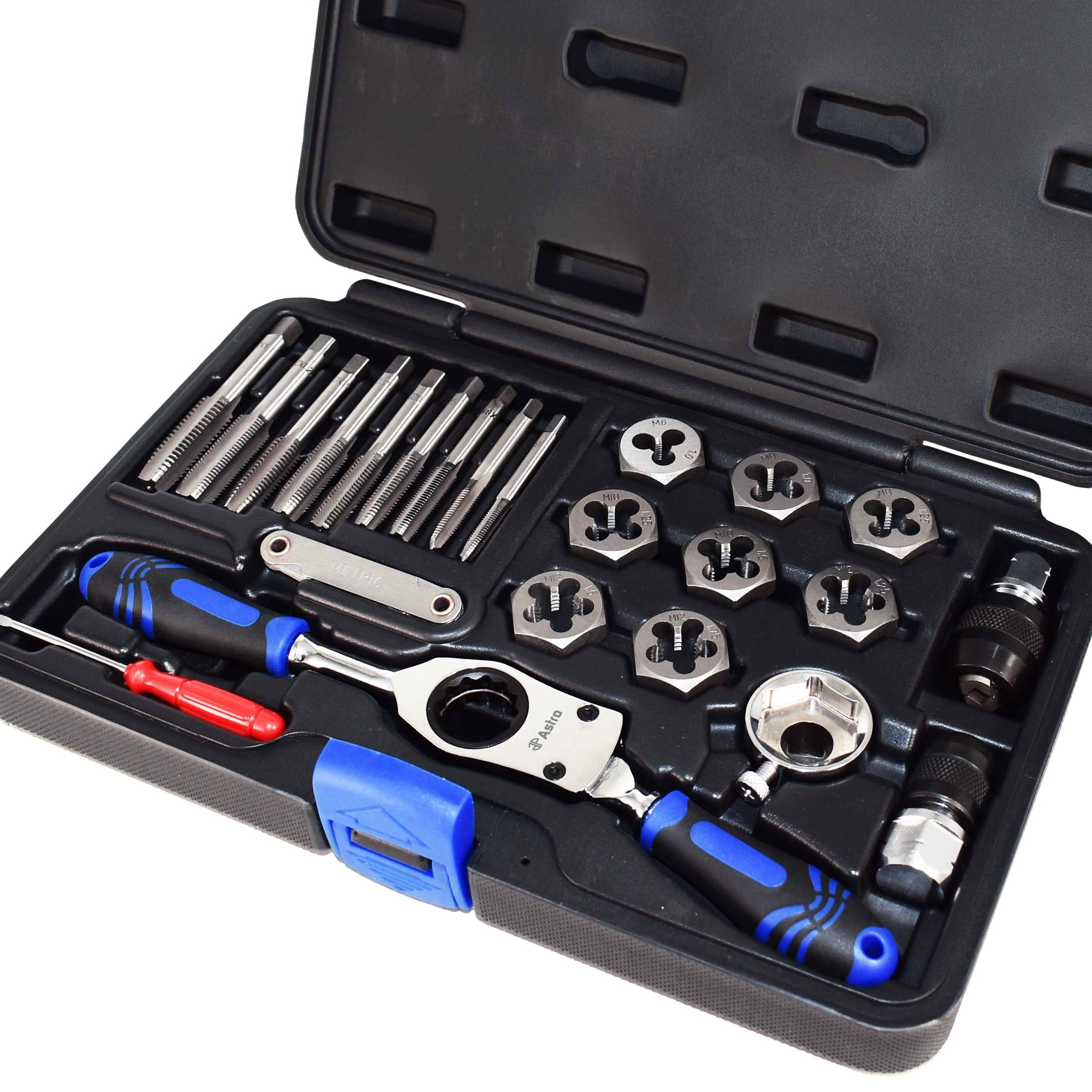 Astro Pneumatic Tool 7582 Metric Automotive Tap & Die Set