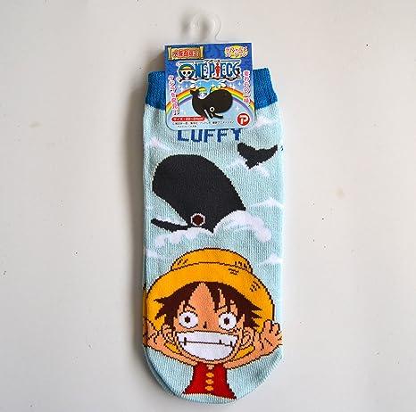 One Piece Calcetines de Fantasmas Socks Rufy Luffy Ballena Originales Talla 24 cm