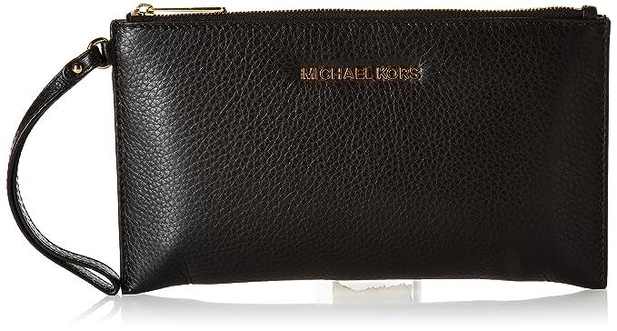 Clutch Bag, Black, Leather, 2017, one size Michael Kors