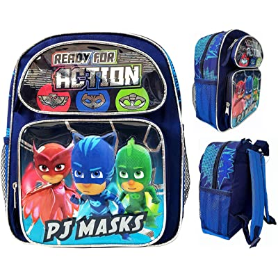 "PJ Masks Backpack 12"" Boys Book bag Catboy Owlette Gekko School Backpack NEW! 