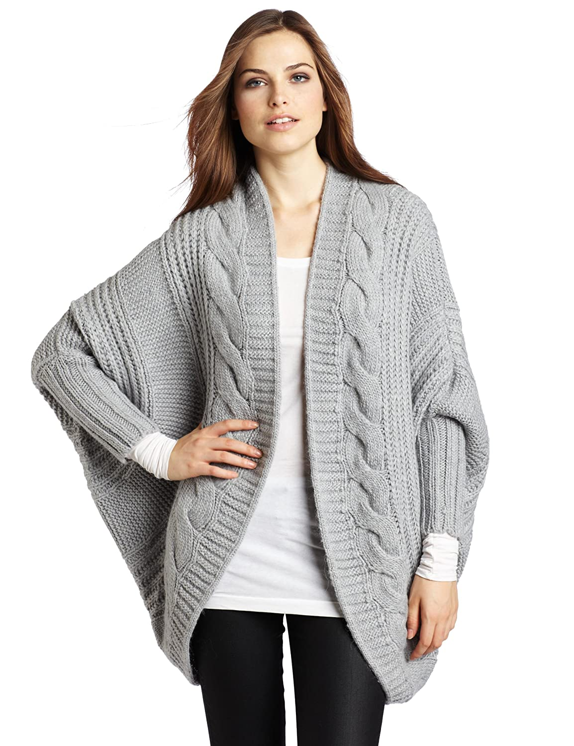 Vince Camuto Womens Cable Cocoon Cardigan Sweater, Dove Heather ...