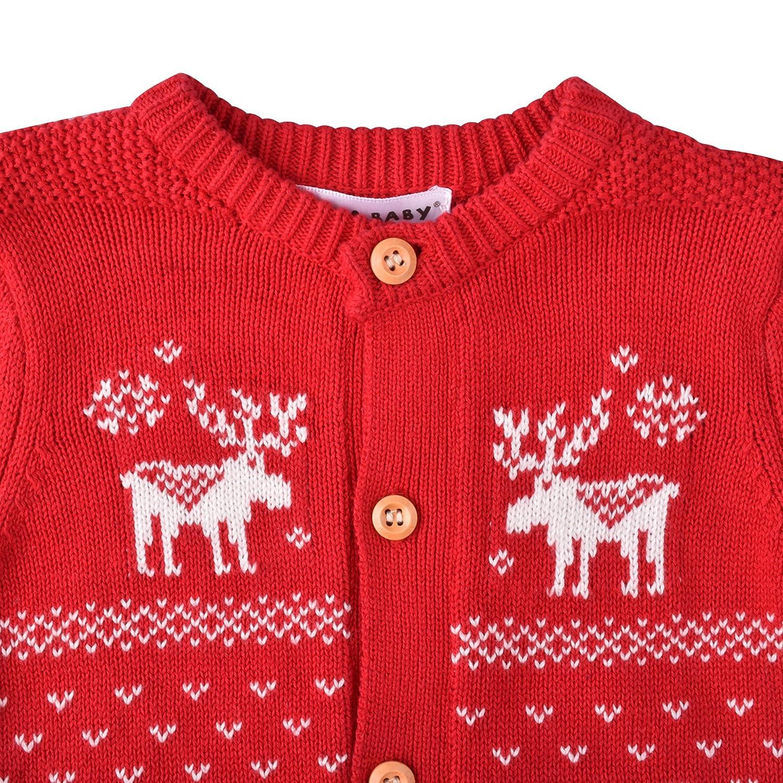 ZOEREA suéteres de Navidad Unisex Bebé Recién Nacido Pelele manga larga abrigo ciervos: Amazon.es: Ropa y accesorios