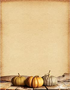 "Great Papers! Fall Pumpkins Letterhead, 8.5"" x 11"", 80 sheets (2018012)"