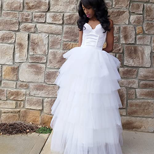 a316abb7781 Amazon.com  Tiered Tulle Maxi Skirt Any Size