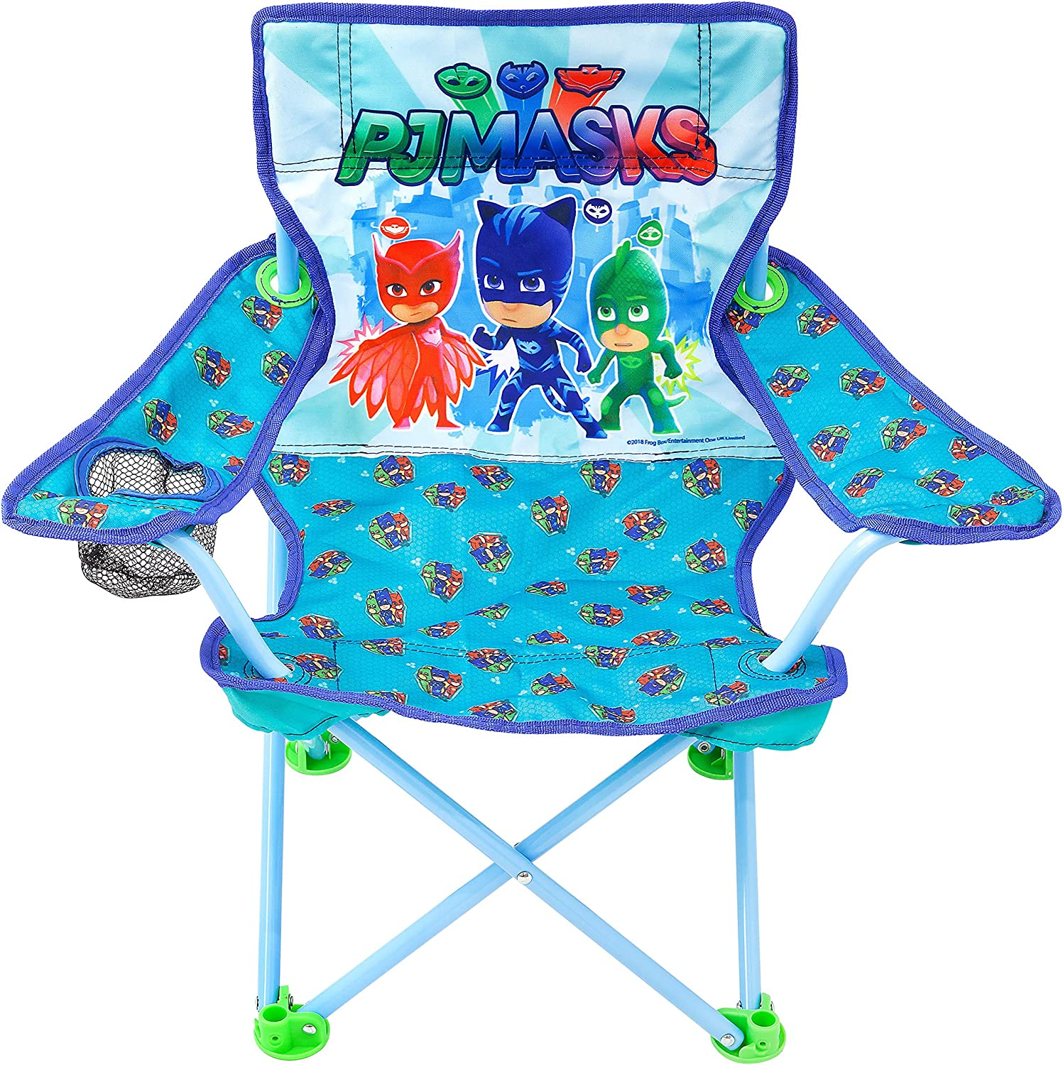PJ Masks Camp Chair for Kids, Portable Camping Fold N Go Chair with Carry Bag