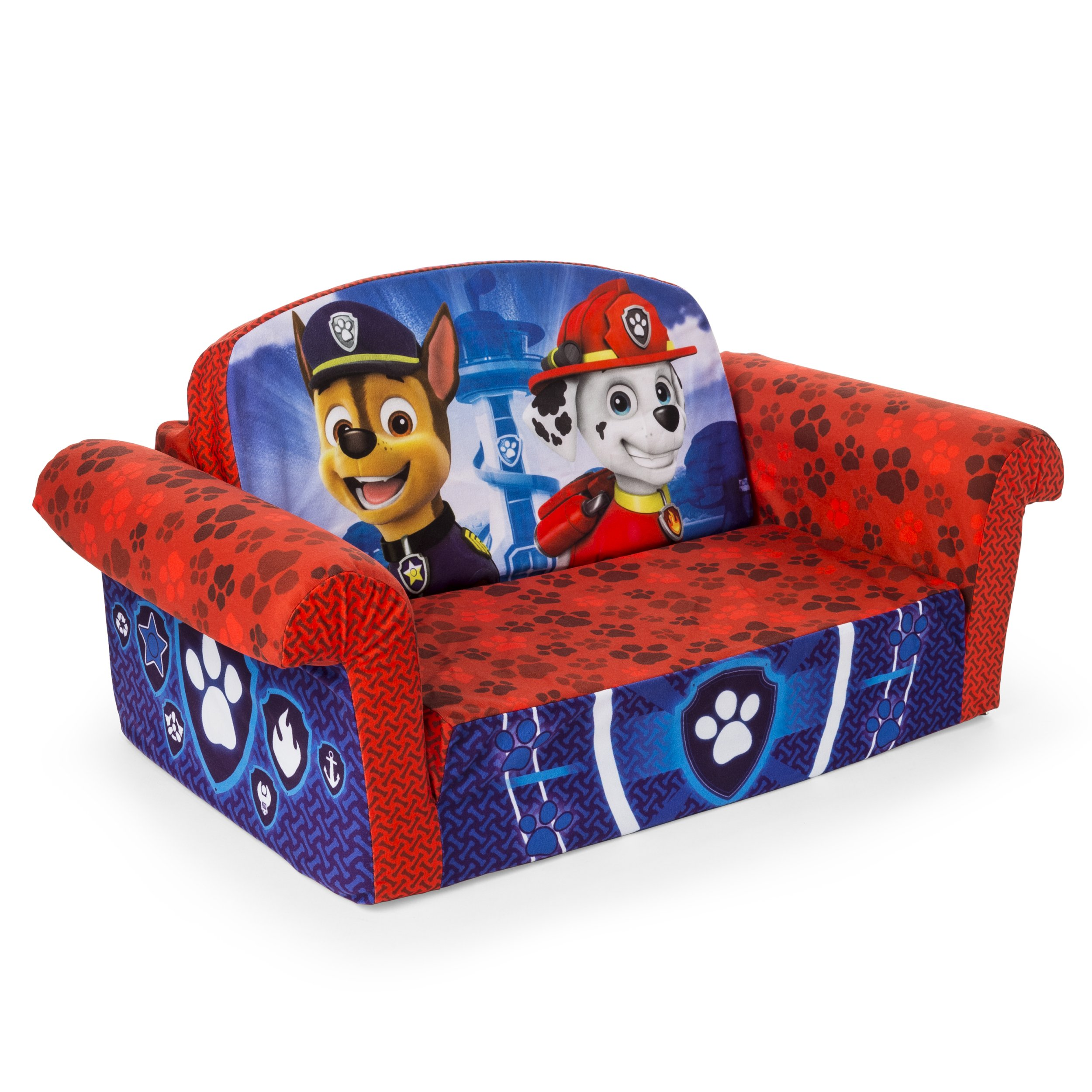Marshmallow Furniture Children's 2 in 1 Flip Open Foam, Nickelodeon Paw Patrol Sofa Chair Furniture, Red by Marshmallow Furniture (Image #6)