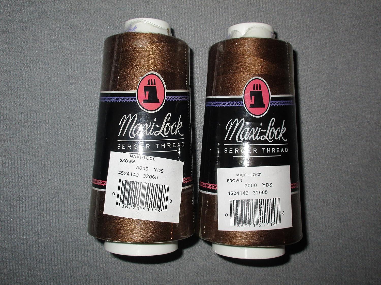 (2-Pack, Brown) - Bulk Buy: American & Efird Maxi Lock Cone Thread 3000 Yards Brown 51-32065 (2-Pack) 2-Pack ブラウン B0033PAT6O
