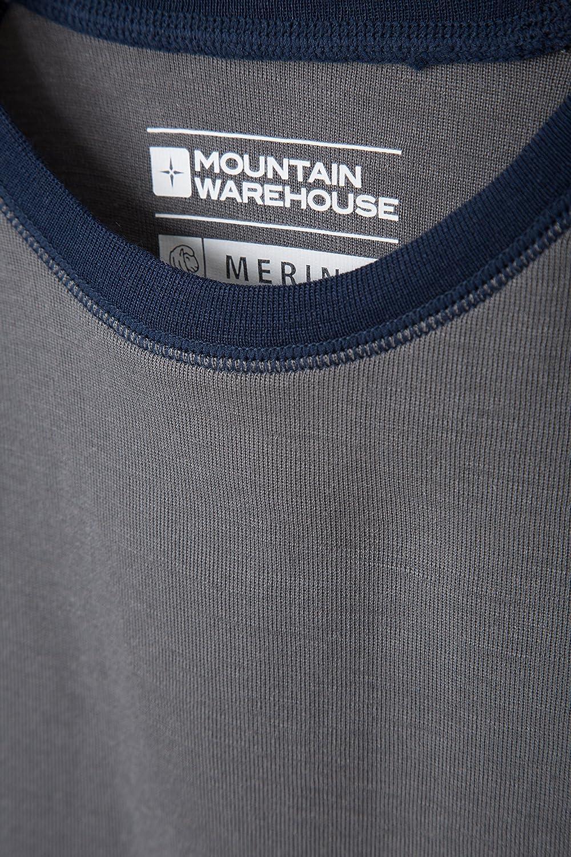 Mountain Warehouse Merino Kinder-Rundhalsoberteil Unterhemd Thermounterw/äsche Skiunterw/äsche Langarmshirt Winter Baselayer Winter Baselayer
