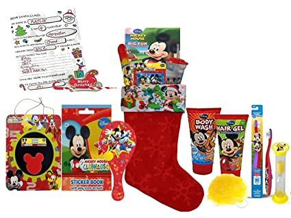 disney mickey mouse clubhouse all inclusive 12pc pre filled christmas stocking featuring mickey friends - Pre Filled Christmas Stockings