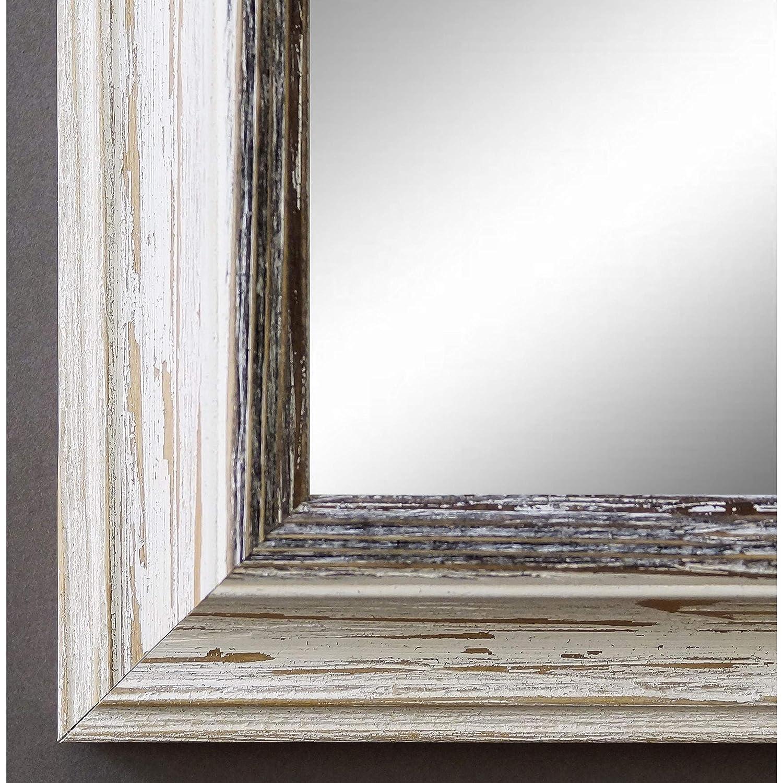 Spiegel Spiegel Spiegel Wandspiegel Badspiegel Flurspiegel Garderobenspiegel - Über 200 Größen - Bari Beige Weiß Schwarz 4,2 - Außenmaß des Spiegels 80 x 100 - Wunschmaße auf Anfrage - Antik, Barock f0cb21