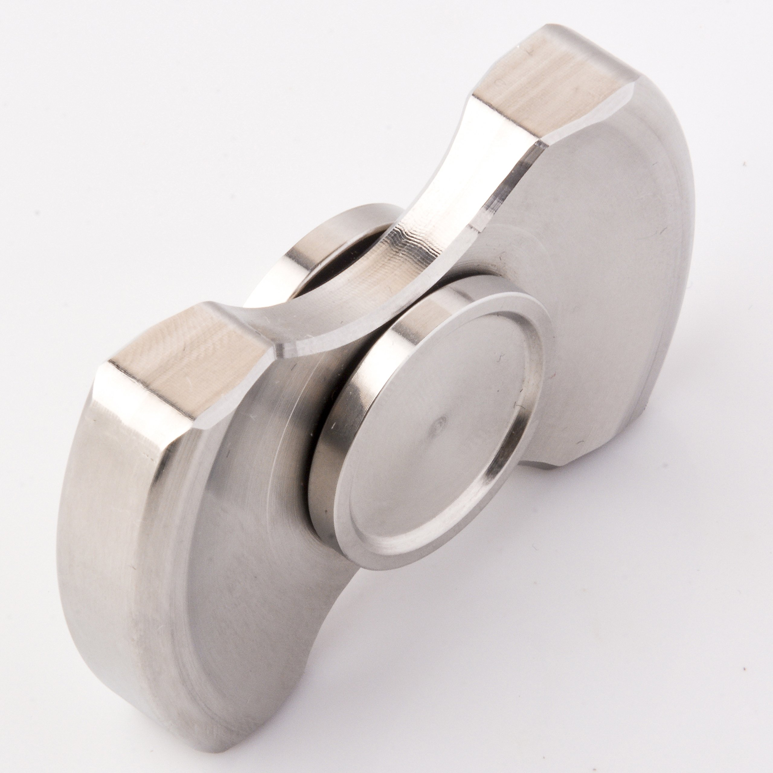 ILoveFidget Fidget Spinner, Best Stainless Steel Hand Spinner EDC Toy, R188 bearing spins up to 8 mins, relieve stress ADHD ADD Austism anxiety boredom, improve focus attention (Double Bar) by ILoveFidget (Image #3)