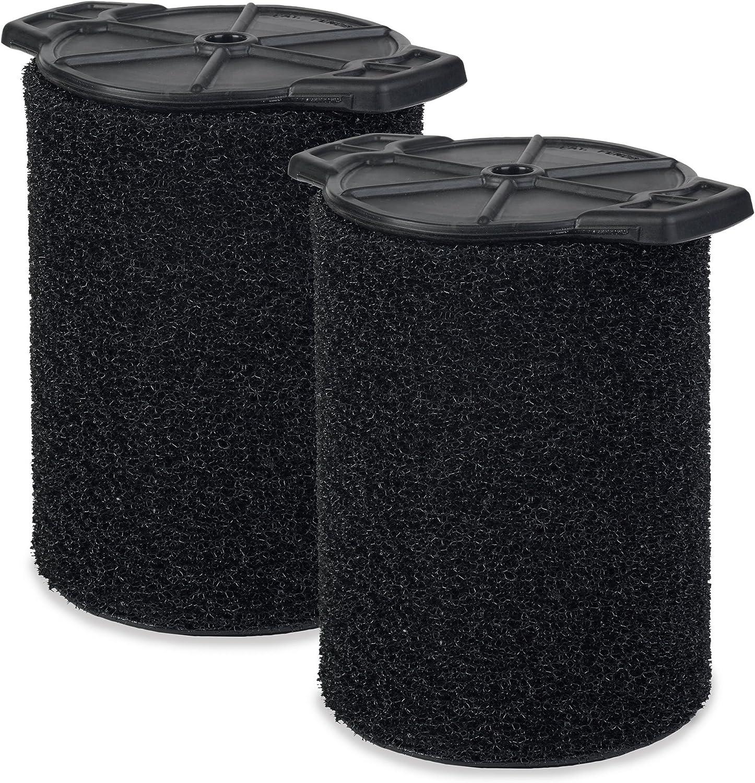 WORKSHOP Wet/Dry Vacs Vacuum Filters WS24200F2 Foam Filter For Wet/Dry Vacuum Cleaner (2 Pack Wet Application Foam Filters) For WORKSHOP 5-Gallon To 16-Gallon Shop Vacuum Cleaners