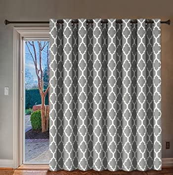 Amazoncom Hversailtex Blackout Printed Curtains Extra Long And