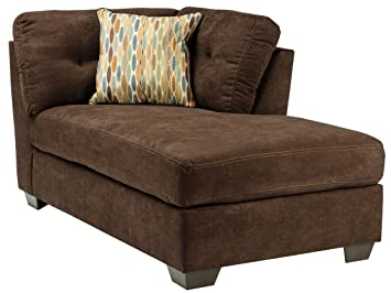 Ashley Delta City Right Corner Chaise Lounge In Chocolate