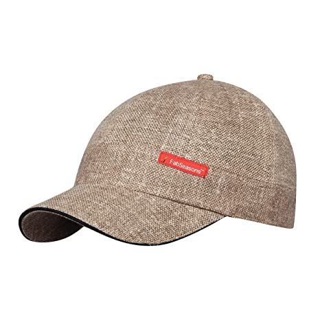 49bc23f144234 FabSeasons Beige Short Peak Cap available at Amazon for Rs.399