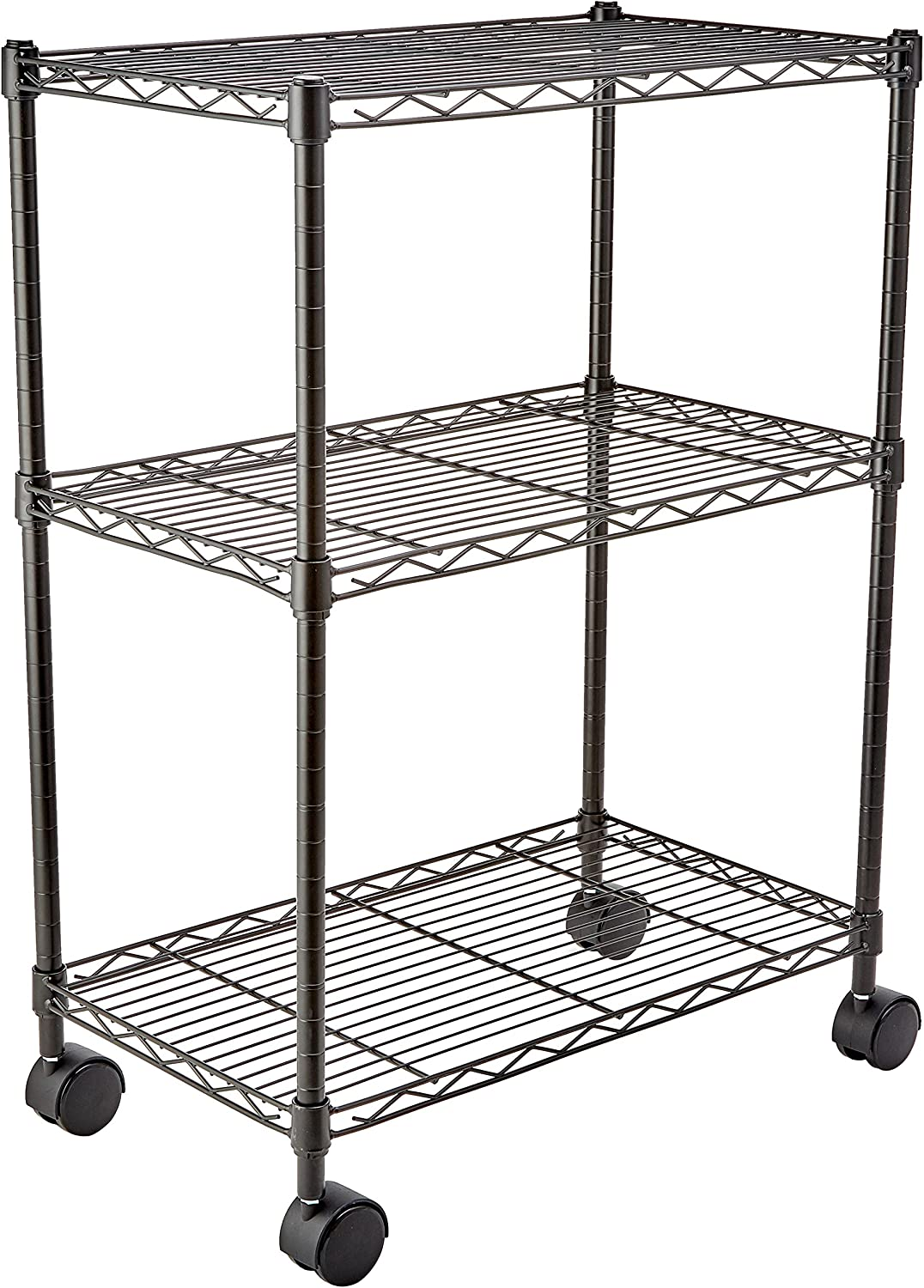 AmazonBasics 3-Shelf Shelving Storage Unit on 3