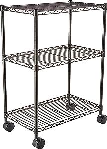 AmazonBasics 3-Shelf Heavy Duty Shelving Storage Unit on 2
