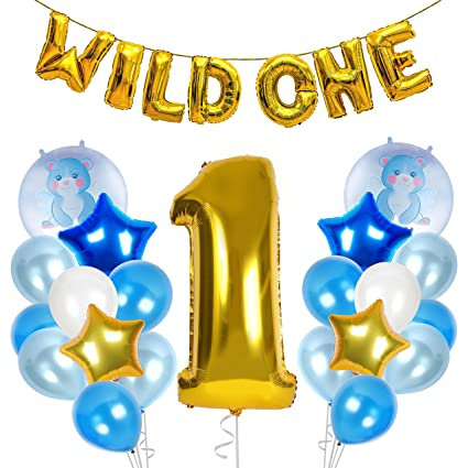 Amazoncom Wild One Birthday Decoration Kit Balloons First