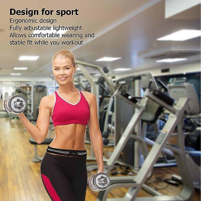 Running cinturón - iPhone X 6 7 8 Plus - Juego de cintura Fanny Pack para Fitness- cintura bolsa para hombre y mujer - Bolsa resistente al agua reflectante ...