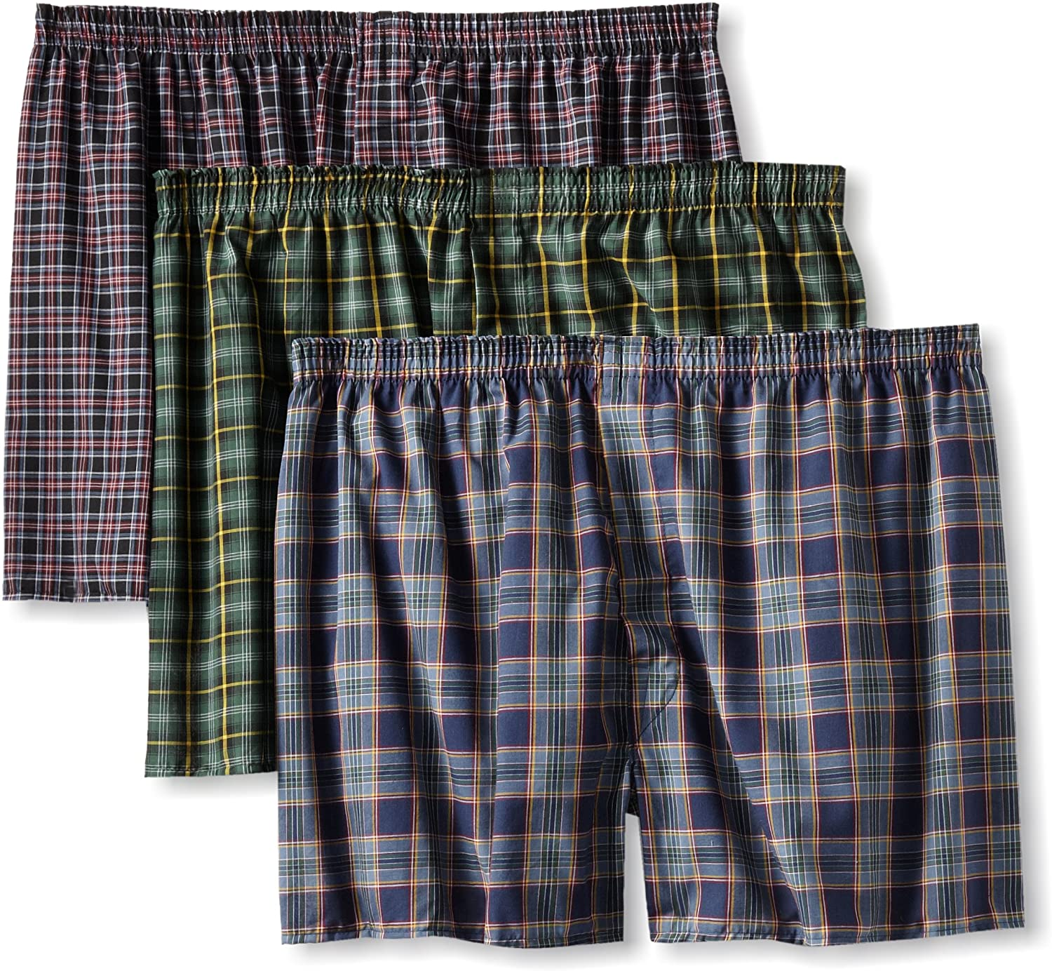 Assorted, Fruit of the Loom Mens BigTartan Woven Boxer